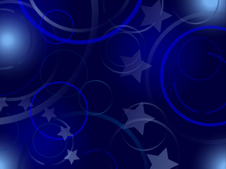 Dark blue background, circles and stars. With elements of European Union flag Reklamní fotografie - 114947671