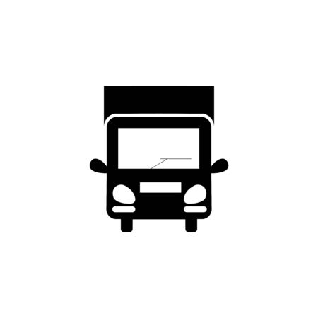 Truck black sign icon. Stock Illustratie