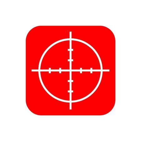 Target capture sign icon. Illustration