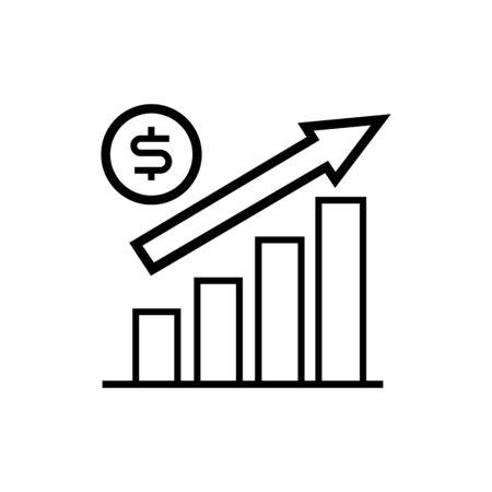 Finance boost graphic icon .