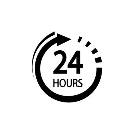 24 hours icon. Illustration