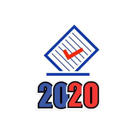 Document and signature icon 2020.