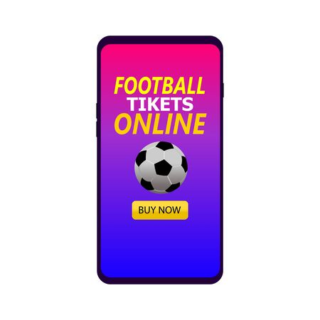 football ticket online booking soccer icon 向量圖像