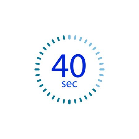 Stopwatch icon for 40 seconds.
