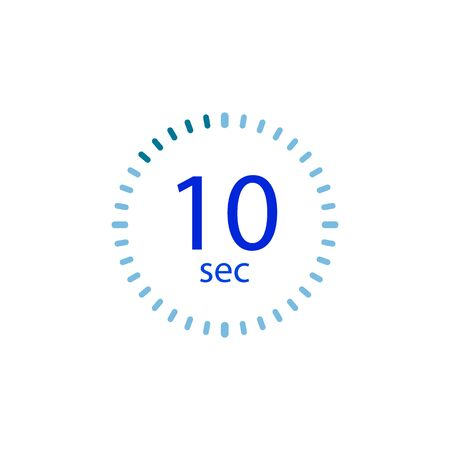Stopwatch icon for 10 seconds.
