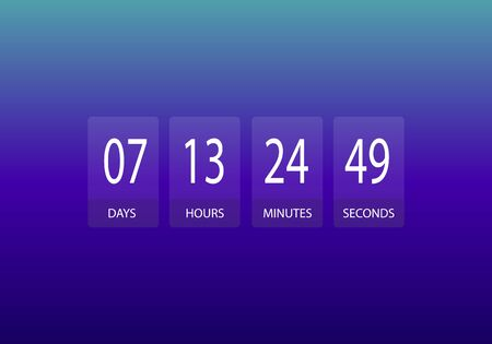 countdown timer design website clock. 向量圖像