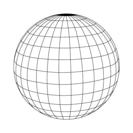 abstract wire frame sphere glowing.