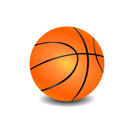 Realistic icon of basketball ball.