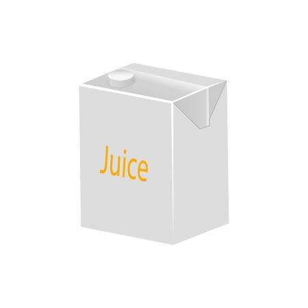 Realistic juice packaging icon. Vettoriali
