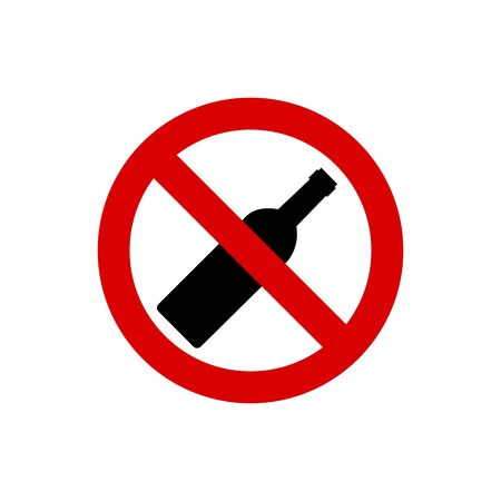 alcohol not permitted allowed sign. Vetores