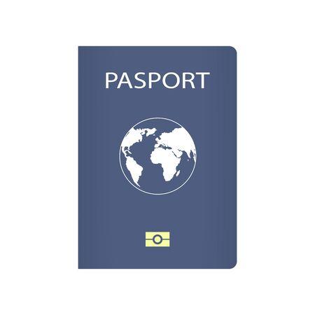 Realistic passport icon. Passport icon.