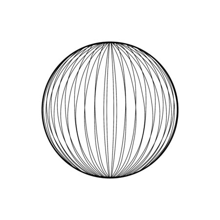 wire frame sphere glowing. Illustration