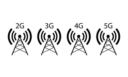 Four cell tower icon.