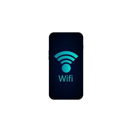 phone wifi screen object electronics icon.