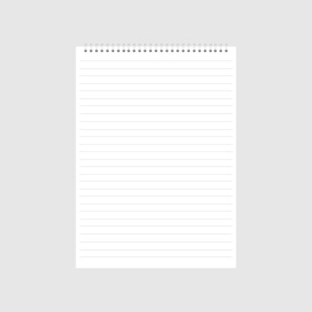 blank realistic spiral notepad notebook icon. Vector Illustratie