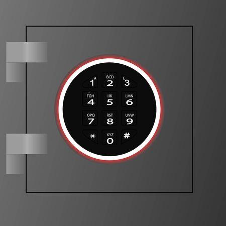 Realistic bank safe icon. Vettoriali