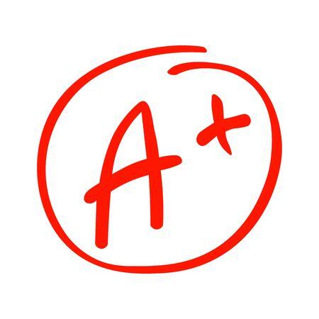 A grade sign icon. 向量圖像