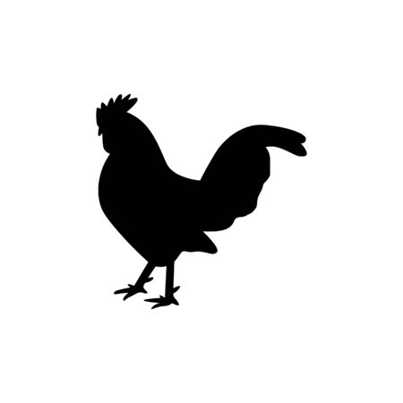 Chicken black sign icon.