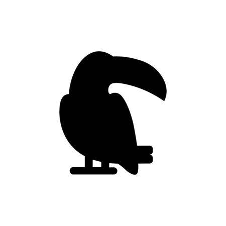 Parrot black sign icon.