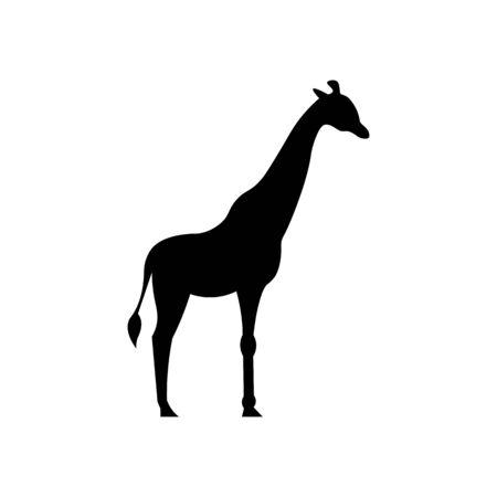 Giraffe black sign icon. Vektorové ilustrace
