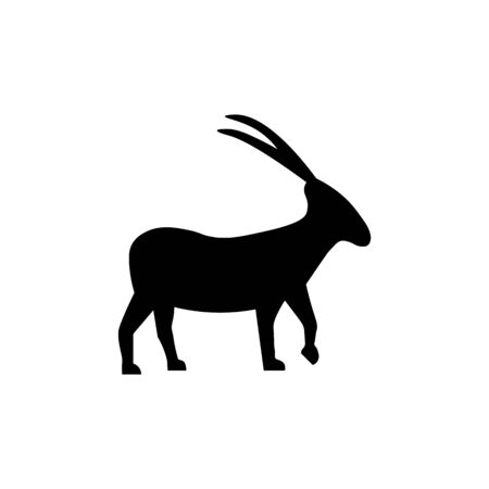 Goat black sign icon. Vector illustration eps 10