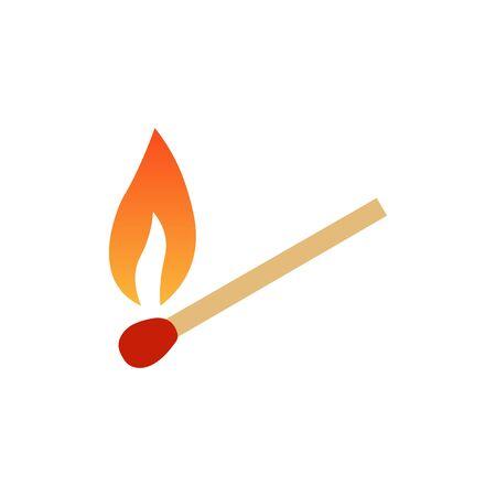 Burning match sign vector icon. Vector illustration eps 10. 向量圖像