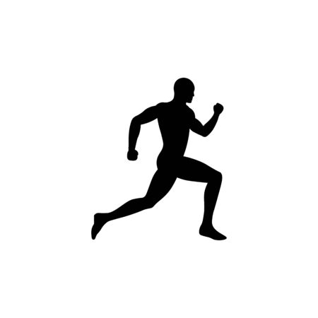 Icon of black sign running man.