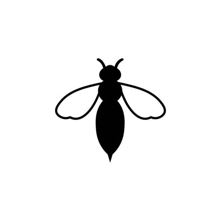 Wasp black sign icon.
