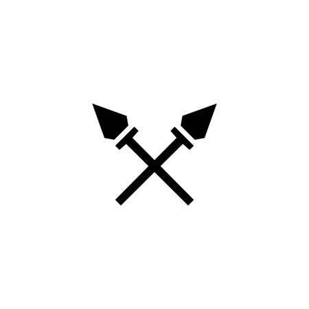 Two swords black sign icon. Vector illustration eps 10.
