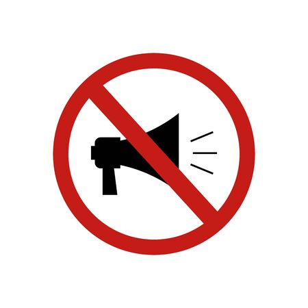 icon forbidden speaker sign. Vector illustration eps 10. 矢量图像