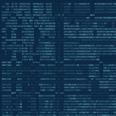 Abstract blue technology background. Binary computer code. Programming, Coding, Hacker Concept. Vector illustration eps 10. Ilustración de vector