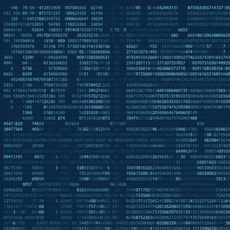 Abstract blue technology background. Binary computer code. Programming, Coding, Hacker Concept. Vector illustration eps 10. Vektorové ilustrace