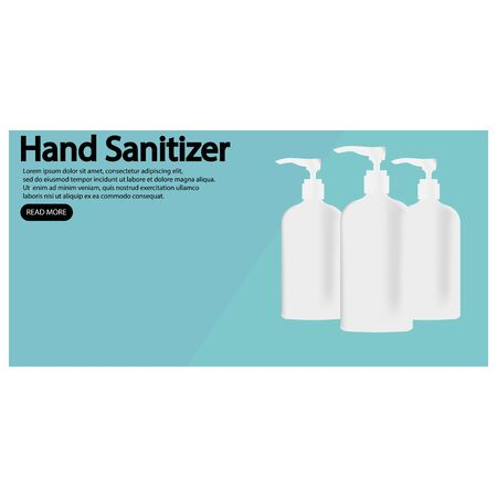 Icon realistic hand sanitizer. Vector illustration eps 10