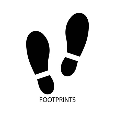 Icon of a pair of human footprints. Vector illustration eps 10.