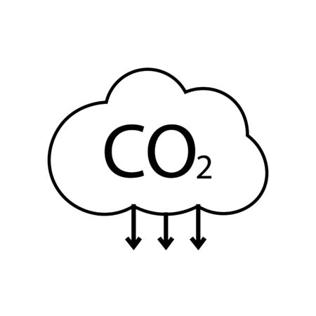 Cloud icon with the inscription CO2. Vector illustration eps 10.