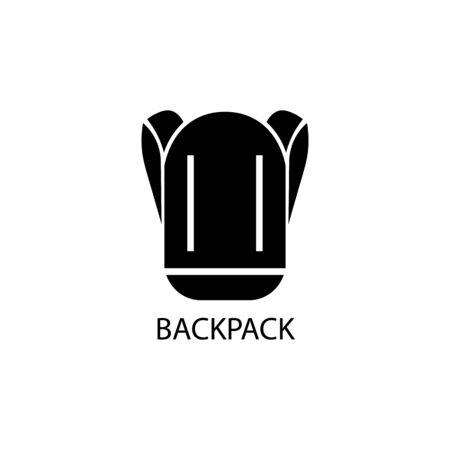 Backpack black sign icon. Vector illustration eps 10. Illustration