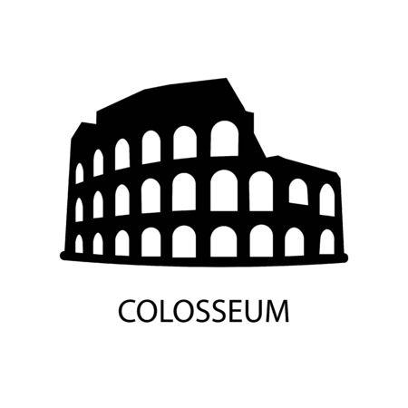 Colosseum black sign icon. Vector illustration Illusztráció
