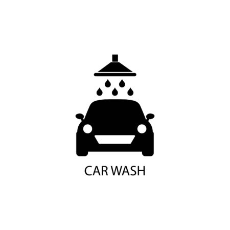 Car wash sign icon. Vector illustration