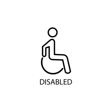 Disabled sign icon. Disabled. Vector illustration eps 10. 向量圖像