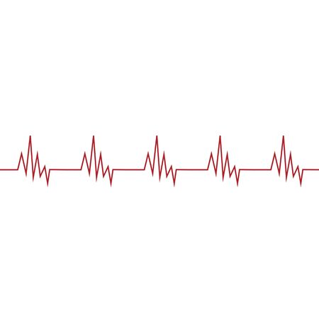 Medical cardiogram sign icon. Vector illustration eps 10. Illustration