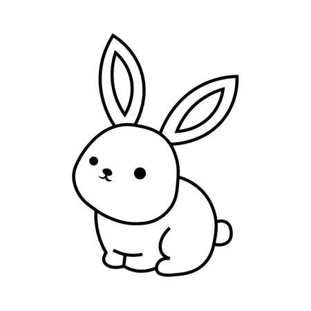 Rabbit black sign icon. Vector illustration Ilustração
