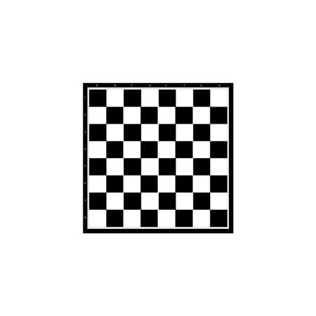 Chess board black sign icon. Vector illustration Ilustracja