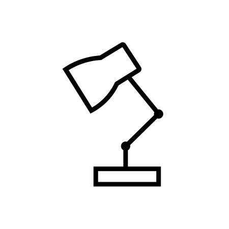 Table lamp black sign icon. Vector illustration eps 10.