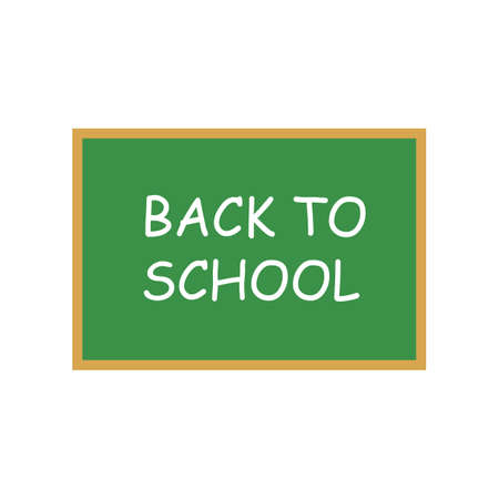 Back to school banner icon. Vector illustration eps 10.