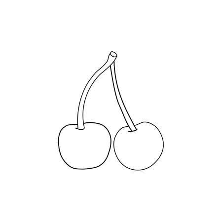 Black cherry sign icon. Vector illustration