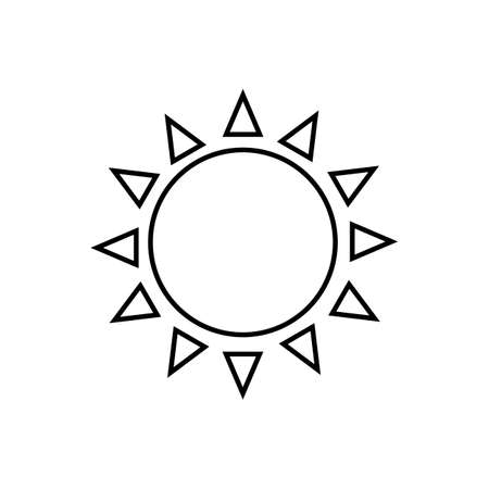 Sun black sign icon. Vector illustration