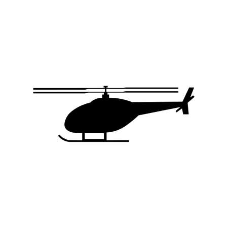Helicopter black sign icon. Vector illustration Ilustracja