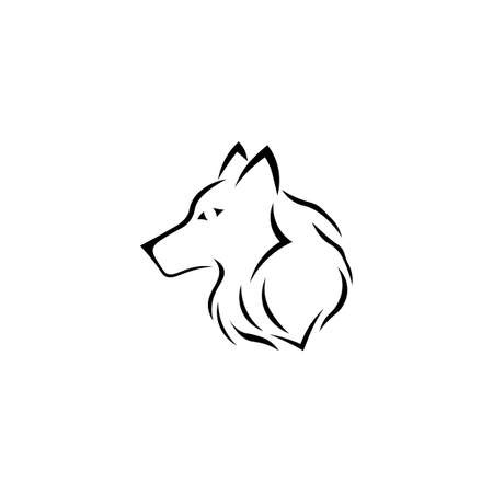 Black wolf sign icon. Vector illustration eps 10. 일러스트