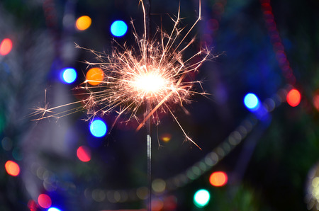 Christmas sparkler Stock Photo