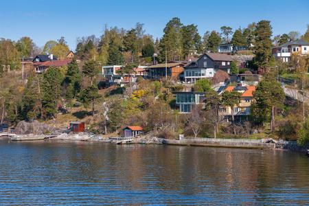 karlstad: Beautiful view of Stockholm suburbs Stock Photo